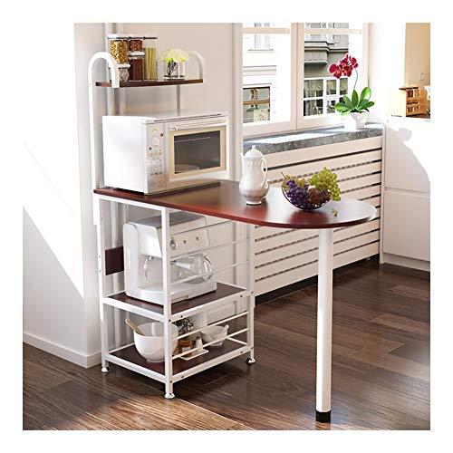 Bureau Shelf, Badkamer Metal Rack Keuken kruidenrek Oven Rack, Woonkamer Slaapkamer 4 Tier Display Rack (Color : Section A)