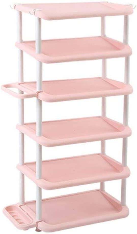 SCDXJ Shoe Rack Simple Furniture Shoe Rack Dormitory Multi-Functional Multi-Layer Assembly Plastic Dust-Proof Shoe Cabinet Large Capacity Storage Rack Rack Color : Green, Size : 4 Floors