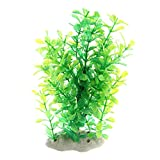 Cobeky Plantas de agua de plástico falso verde para acuario de tanque de peces
