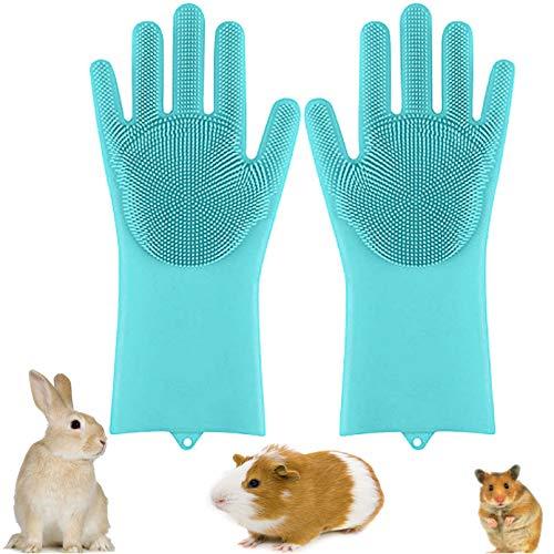 PINVNBY Bunny Grooming Glove Rabbit Hair Remover Brush Small Animal Mitt Massage Bathing Tool...