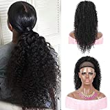 """Youthfee 22"""" Drawstring Ponytail Deep Curly Heat Resistant Synthetic Instant Clip Ponytail Hair Extension Protective Style Afro Hairpieces for Womens"""