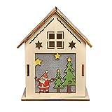 Vacaciones Decoración LED Ligero Madera Casa Árbol Navidad Colgante Colgante Adornos DIY Juguetes