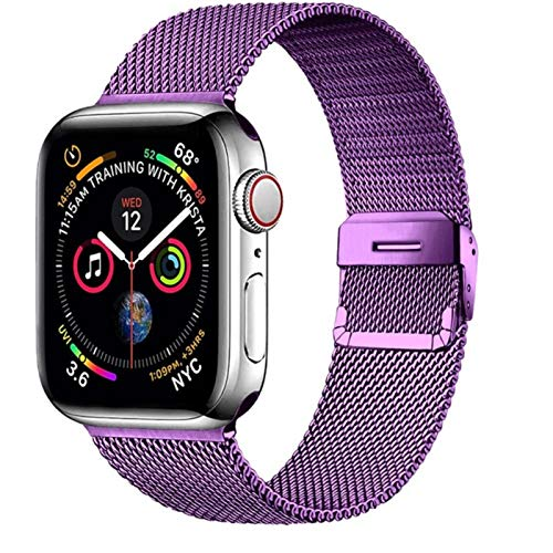 Para Apple Watch Band 44mm 4mm 38mm 40mm para Iwatch banda correa acero inoxidable pulsera para Apple Watch Se