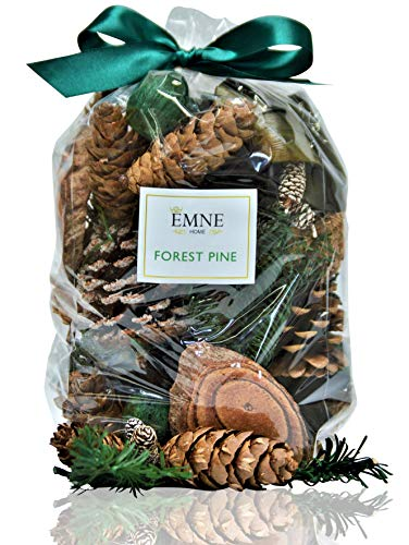 EMNE HOME Pine Potpourri Bag   Beautiful Natural Botanicals with Great Balsam & Pine Scent   12oz Bag  Hand Made in The USA
