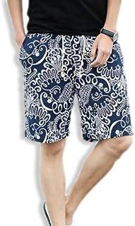 [ネクシード] ハーフパンツ ショートパンツ 総柄 5分丈 ズボン メンズ 5色展開 M~2XL