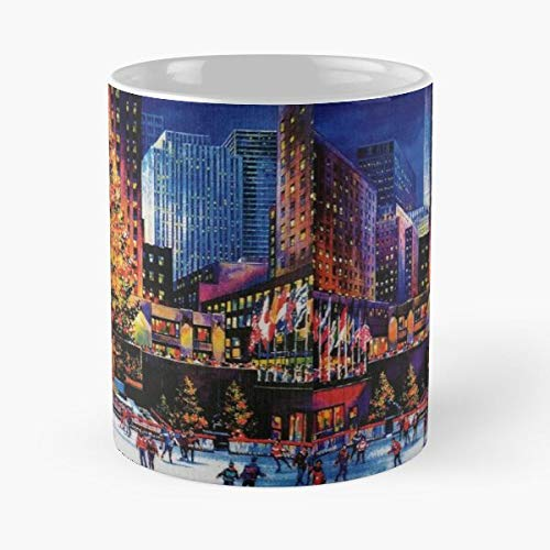 In Winter Rockefeller Center NYC York Tree Christmas Manhattan New Year Best 11 oz Kaffeebecher - Nespresso Tassen Kaffee Motive