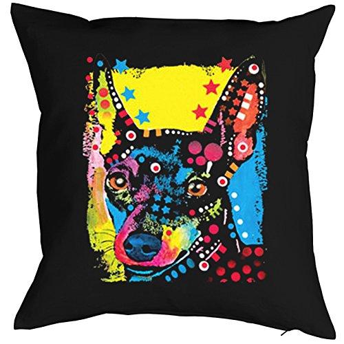 Miniature Pinscher nain Pillow, oreiller, almohada, Cuscino Pop Art Style