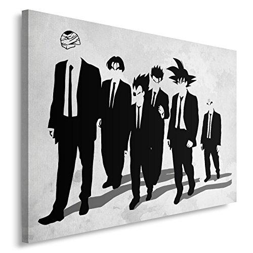 Feeby. Cuadro en lienzo - 1 Parte - 70x50 cm, Imagen impresión Pintura decoración Cuadros de una pieza, Z Dogs - DDJVigo, ANIME, BLANCO Y NEGRO
