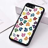 WGOUT Funda de teléfono de Goma de Silicona para iPhone 6 6S 7 8 Plus 5 5S SE 2020 X XS XR 11 12 Pro Mini MAX Flores de Colores, para iPhone SE 2020