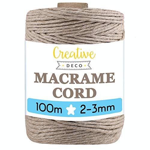 Cuerda De Algodón 5Mm Verde Marca Creative DECO