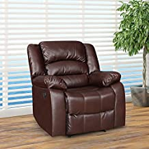 HomeTown Bradford Fabric Single Seater Recliner in Brown Colour