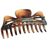 Camila Paris CP118 French Hair Clips for Women, Girls Hair Claw Clips Jaw for Women, Durable Styling Girls Hair Clip, Made in France with Cellulose (6 inch, Tortoise)