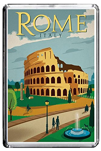 CFL B249 ROME FRIDGE MAGNET ITALY VINTAGE TRAVEL PHOTO MAGNETICA CALAMITA FRIGO