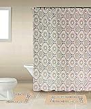Luxury Home Collection tappeti Bagno 15 Pezzi Tappeto Bagno Antiscivolo Stampato e 183 * 183CM