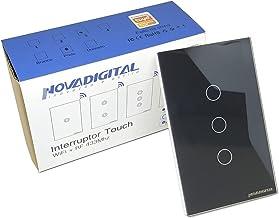 Interruptor Novadigital WSUS3B Touch Preto 3 Teclas