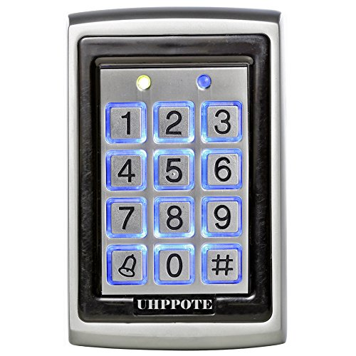 UHPPOTE 125Khz EM-ID Metal Case RFID Access Control Keypad with Back Light Support 500 User