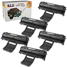 LD Compatible Toner Cartridge Replacement for Samsung ML-2010D3 (Black, 5-Pack)