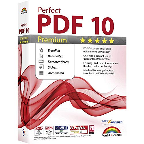 Markt & Technik Perfect PDF 10 Premium Vollversion, 1 Lizenz Windows PDF-Software