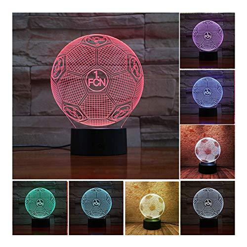 CAISYE 3D Optische Täuschung Nachtlicht FC 1 Fcn Smart 7 Farben LED Touch Tischlampe Für Kinder Geburtstag Weihnachten