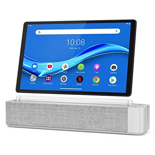 Lenovo Smart Tab M10 Plus, FHD 10.3' Android Tablet, Alexa-Enabled Smart Device, Octa-Core Processor, 64GB Storage, 4GB RAM, WiFi, Bluetooth, ZA6M0013US, Platinum Grey (Renewed)