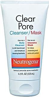 Neutrogena Clear Pore Cleanser/Mask, 4.2 Ounce