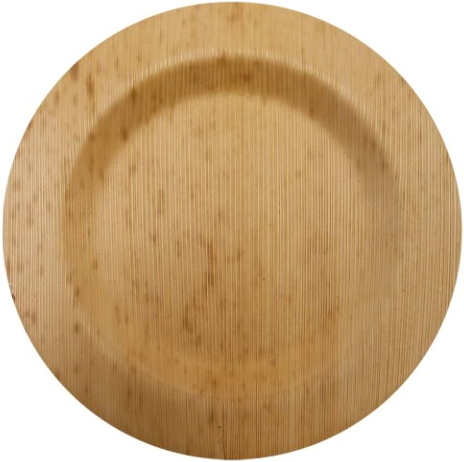 Bamboo Studios 6-Inch Round Plate, 8-Pack, Natural by Bamboo Studios
