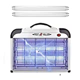 Micnaron 1 Electric Zapper with Handle, Pest Repeller Control, Silve