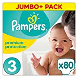 Pampers Premium Protection Size 3, 5 kg di 9 kg, 80 nappies