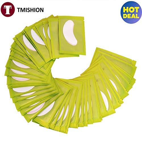 Cadeaux de mai Sous le coussin de gel pour les yeux, 50 paires/ensemble de ruban autocollant d'extension de cils 5 couleurs 2 types(Green)