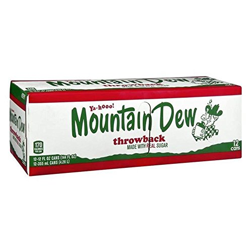 Mountain Dew MTN 13 Sorten 12 Dosen inkl. DPG-Pfand Baja Blast Black Label Classic Diet Code Red Game Fuel Cherry Citrus Mango Lire Wire Pitch Black Throwback Voltage White Out (Throwback, 12x 355ml)