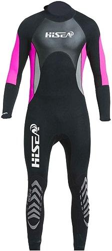 QWERTU Combinaison de 3Mm, Tissu Extensible résistant aux UV à Manches Longues, Costume de plongée en Plein air avec écran Solaire Chaud pour Le Surf,M