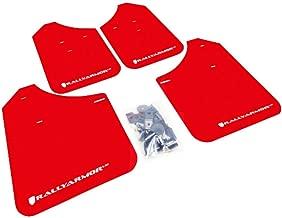 Rally Armor MF1-UR-RD/WH Red, White Mud Flap with Logo (02-07 Subaru WRX/STI/RS/2.5i (Wagons req mod) UR)