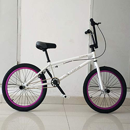 MIAOYO Adults 20 Inch Professional BMX Bike, Stunt Action BMX Bicycle, Suitable for Beginner-Level To Advanced Riders Street Bikes BMX 25 * 9T,h