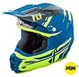 Casco Fly F2 Carbon 2018 Forge MIPS negro/amarillo/azul S