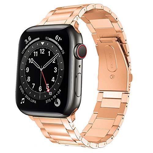 Band Correa de reloj para apple watch 6 se band 44mm 40mm para iwatch series 5 4 3 42mm 38mm correa acero inoxidable pulsera de metal correa