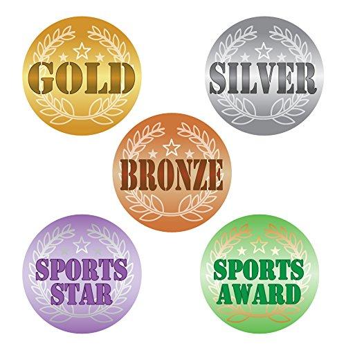 125 x gold silver bronze