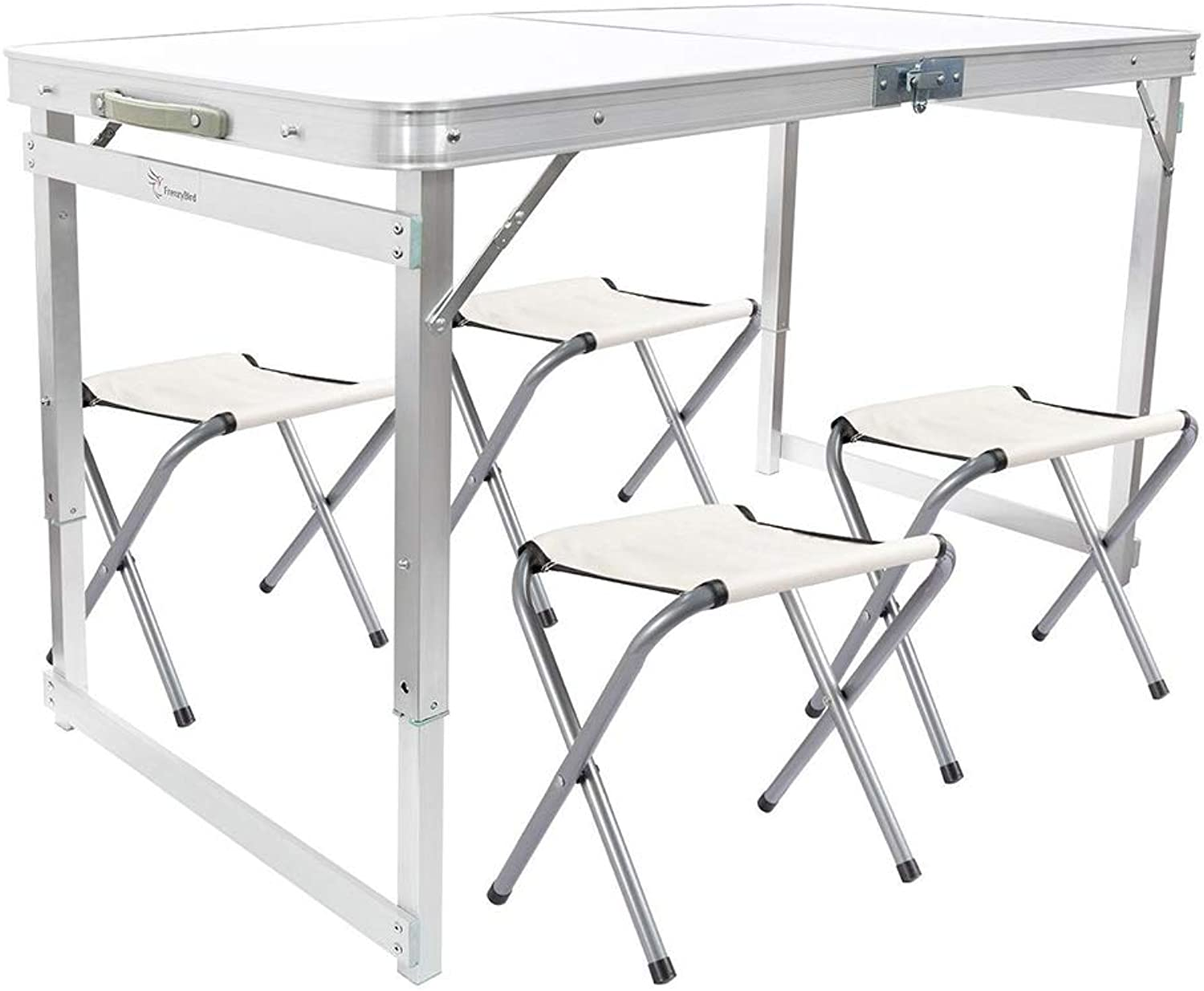 4Person Folding Picnic Table with 4 Chairs, Height