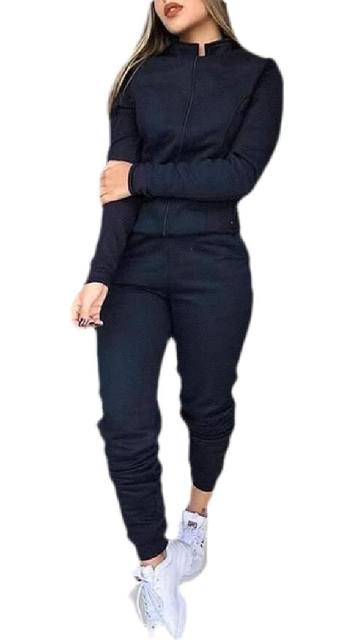 脈拍分析ロケットレディース2ピース衣装ジッパースウェットシャツ&スウェットパンツトラックスーツジョギングスーツ