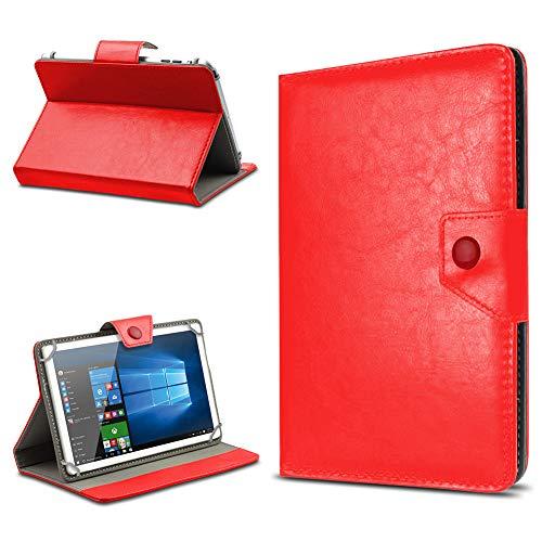 UC-Express Tablet Hülle für 10 Zoll Universal Case Cover Schutzhülle Kunstleder Tasche Etui, Farben:Rot, Tablet Modell für:Odys Maven 10