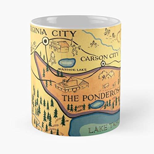 Bonanza Ponderosa America Tv Usa Old Show American Map Best 11 oz Kaffeebecher - Nespresso Tassen Kaffee Motiv