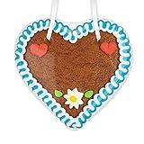 Lebkuchenherz Geschenk zum selber machen - 12 x12cm - mit Rand und Deko - nur Beschriften und feritg! so einfach kann man ein individuelles Geschenk für einen Freund oder den Partner selbst gestalten