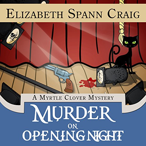 Murder on Opening Night audiobook cover art