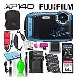 Fujifilm FinePix XP140 Waterproof Digital Camera (Sky Blue) Advanced...