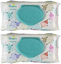 Pampers Sensitive Water Baby Wipes 2X Pop-Top Pack, 56 Count (112 Total Count)