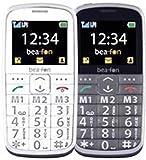 Beafon SL215 Großtastenhandy (6,1 cm (2,4 Zoll) TFT-Bildschirm, GSM-Dualband, 2 Megapixel Kamera, 3,5mm Klinkenstecker) anthrazit