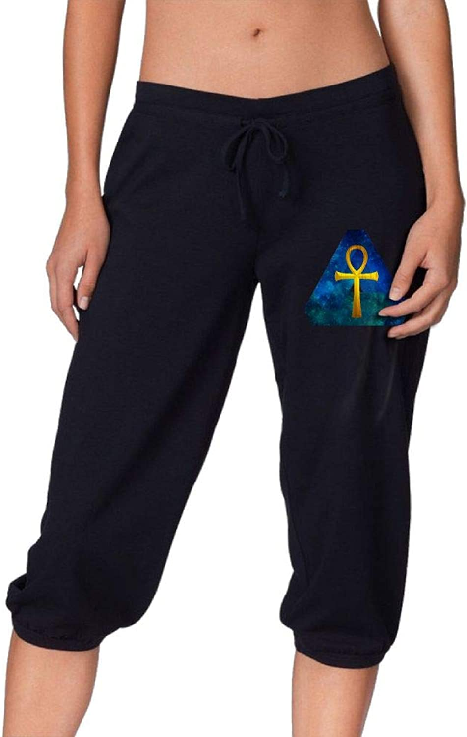 Pantsing Hipster Ankh Women's Fit Active French Terry Capri Pants