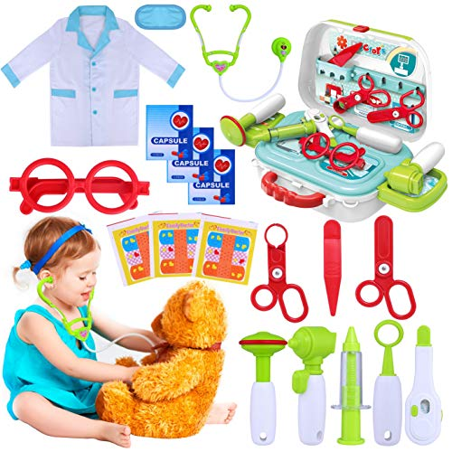 GINMIC Kids Doctor Kit, 22 Piece Kids Pretend Play Toys,...