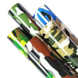 ZAIONE 5pcs/Set 11.8' x 9.8' (30cm x 25cm) Camouflage Thermo Heat Transfer Vinyl Iron-on Textile HTV Craft Film Garment Clothing for T-Shirt Decoration DIY Craft Sewing Material (Camouflage Bundle 1)