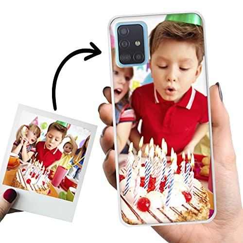 Phone Case Trends – Funda Samsung A51 4G Personalizada con Foto o Texto – Carcasa Personalizable de Gel Flexible para Móvil - Funda Transparente, Antigolpes y de Silicona - Impresión Directa en Funda