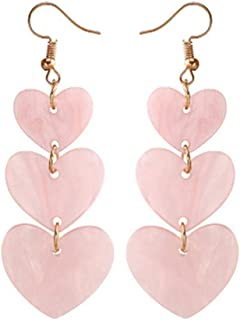 links heart earrings